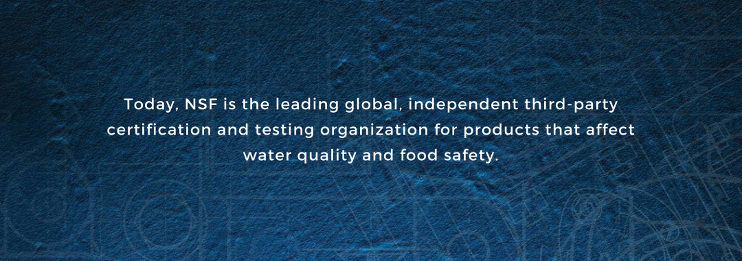 NSF certifications for drinking water filters