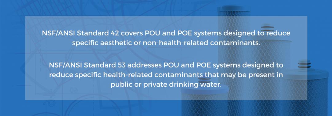 NSF 42 vs NSF 53 water standards