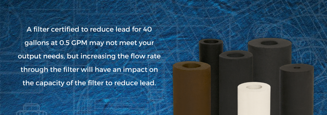 impact of flow rate on effectiveness of water filter
