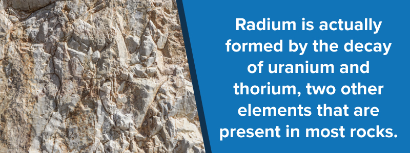 how is radium created